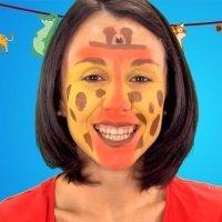 Maquillaje de jirafa para niños