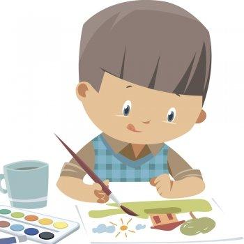 Un niño pequeño. Cuento infantil utilizado por el método Montessori