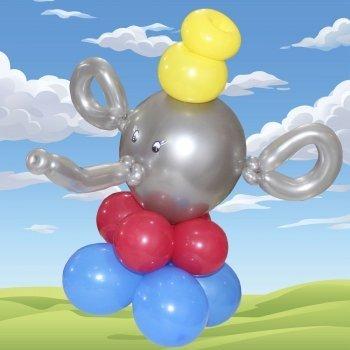 Elefante con globos. Manualidades de globoflexia