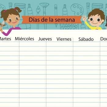 Los días de la semana. Poesía didáctica para niños
