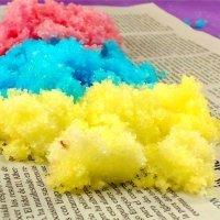 Nieve de colores. Experimento de ciencia para niños