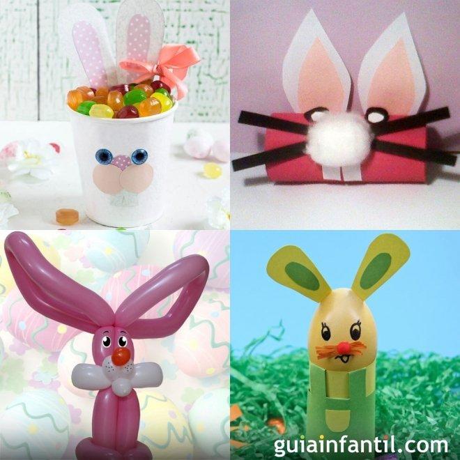Manualidades Para Ninos De Conejos De Pascua