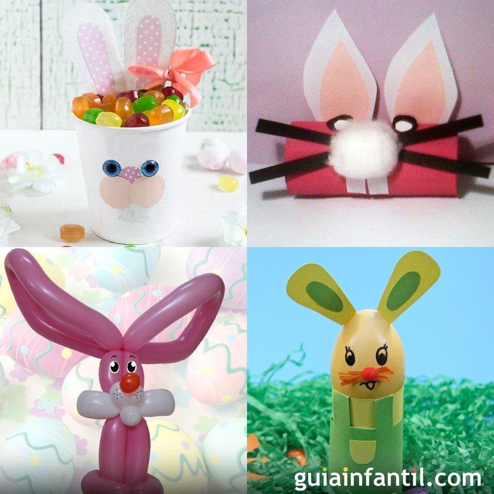 Manualidades para niños de conejos de Pascua