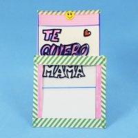 Tarjeta mágica para el Día de la madre. Manualidades para niños