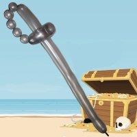 Espada de pirata paso a paso. Manualidades de globoflexia para niños