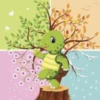 Huga la tortuga. Poema infantil para aprender los meses del año