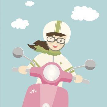 Mi hermana tiene una moto. Poema infantil para aprender jugando