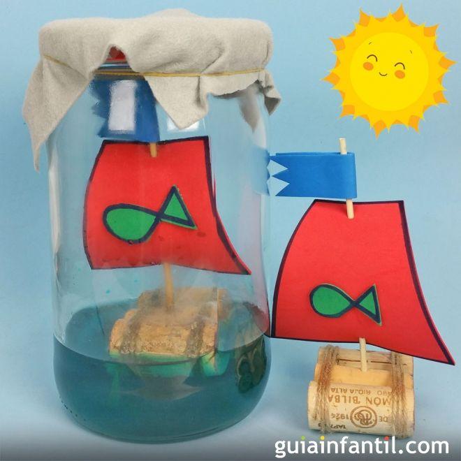 Barco con corchos manualidades f ciles y divertidas para - Manualidades para ninos faciles y divertidas ...