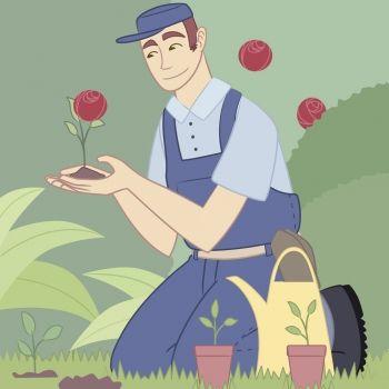 El jardinero bondadoso. Cuento con valores para niños