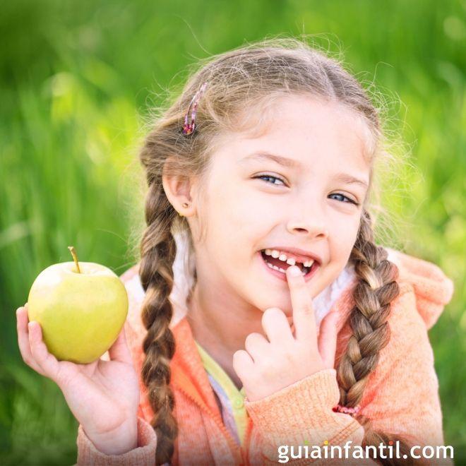 La salida y caída de los dientes en la infancia