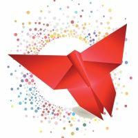 Crea una mariposa de origami. Manualidades para niños