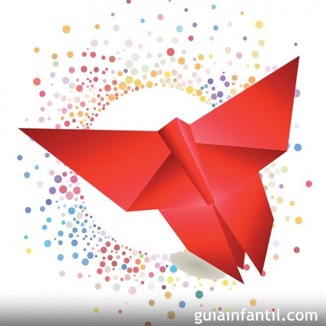 crea una mariposa de origami manualidades para niños