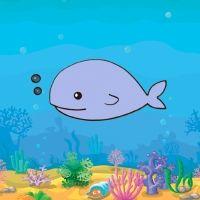 Aprende a dibujar una ballena. Dibujos para los niños