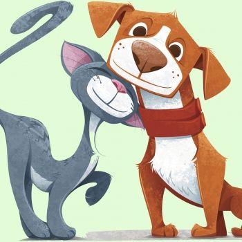 El perro y el gato. Poema infantil sobre animales