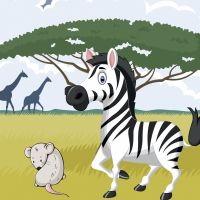 La cebra y el ratón. Poemas infantiles sobre los amigos