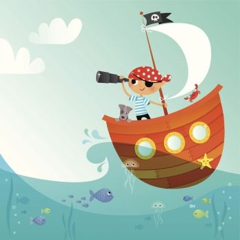 El pirata, poesía para incentivar a los niños en el aprendizaje