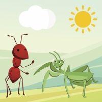 La cigarra y la hormiga. Fábula para los niños