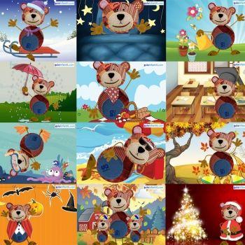 Calendario 2018 con el oso Traposo