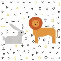 El león y la liebre. Fábula de Esopo para niños