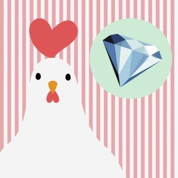 La gallina y el diamante