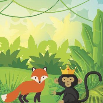 La zorra y el mono rey