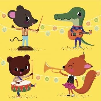 La orquesta de animales. Canción de Cri Cri para niños