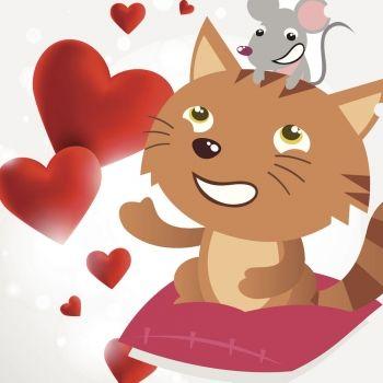 La amistad de la gata y el ratón. Poesía infantil sobre los amigos