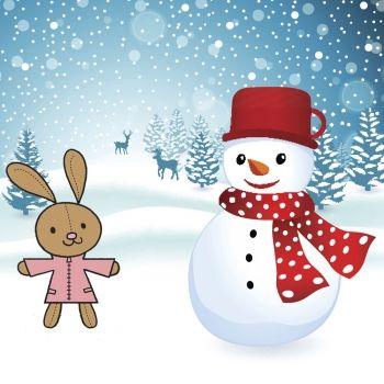 Los conejitos y el muñeco de nieve. Poemas infantiles sobre el invierno