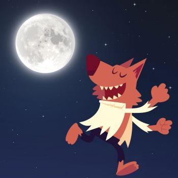 El hombre lobo. Cuento de Halloween