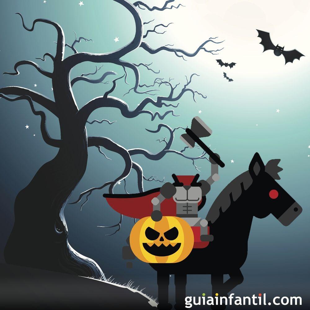 Cuento infantil de Halloween. El jinete sin cabeza
