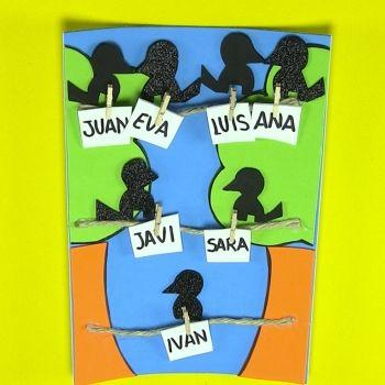 Árbol genealógico de goma eva para niños. Manualidad infantil