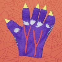 Mano de monstruo para un disfraz infantil. Manualidades de Halloween para niños