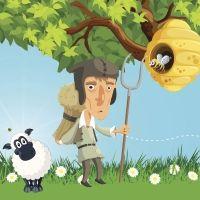 El hombre, la abeja y la oveja. Fábula sobre la bondad para niños
