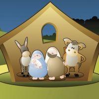 Las pajas del pesebre. Poema de Navidad para niños