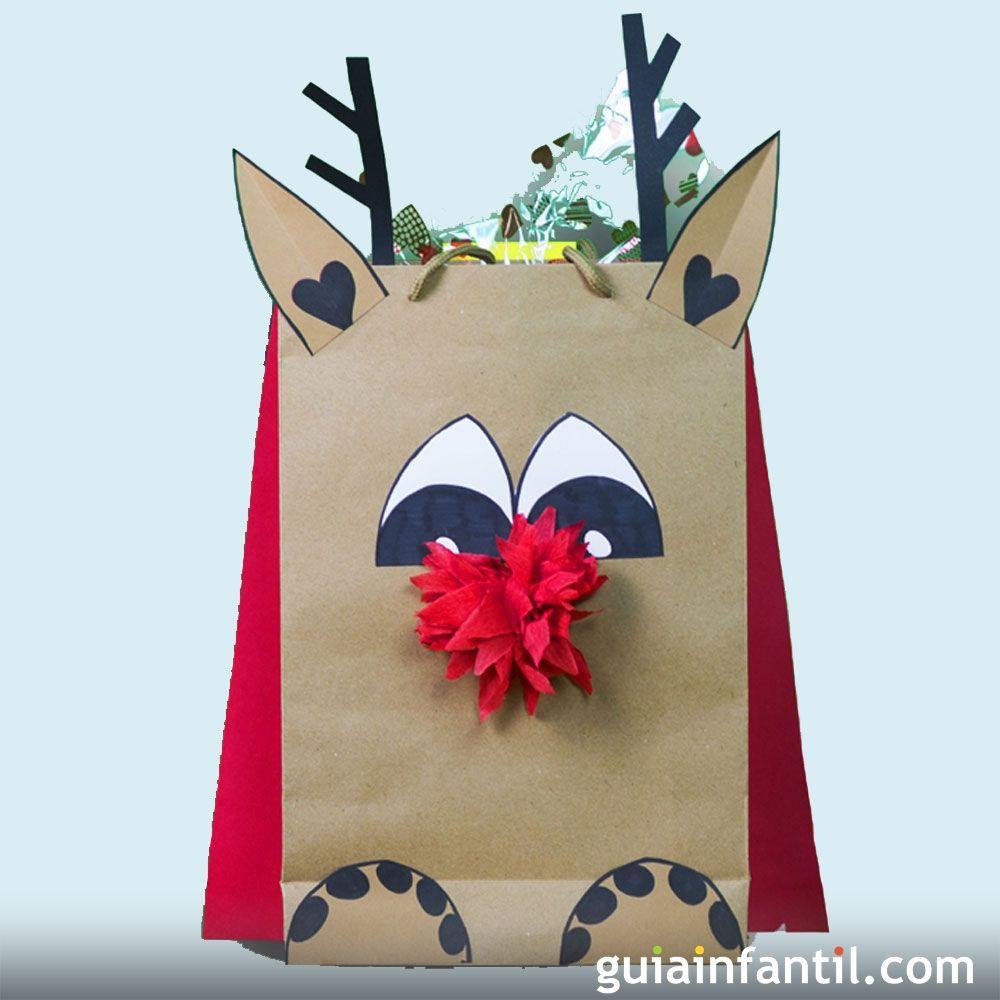 Bolsas de regalo para navidad manualidades sencillas para for Adornos navidenos para regalar