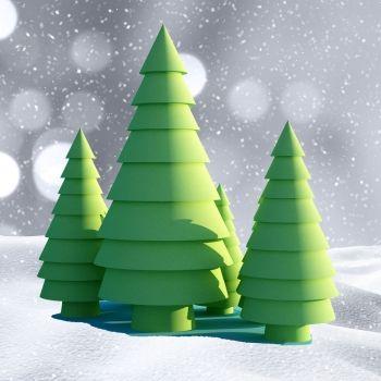 Árboles de Navidad caseros para hacer con los niños