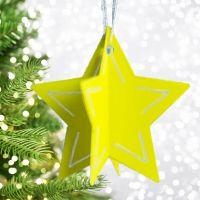 Estrellas de cartulina para decorar el árbol de Navidad. Manualidades infantiles