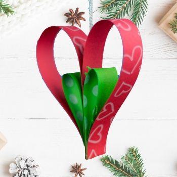 Adorno de corazón para el árbol de Navidad