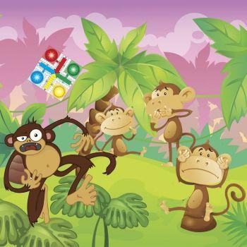 El parchís de los monos. Fábula moderna para niños