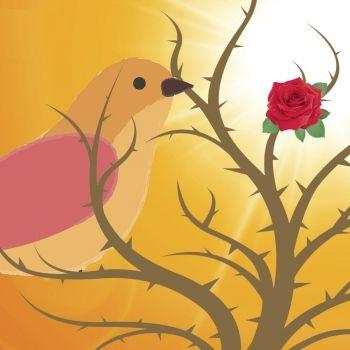 El ruiseñor y la rosa. Cuento para niños sobre el valor de los sentimientos