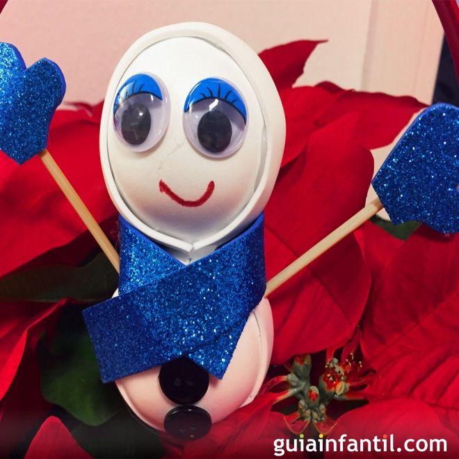Manualidad de mu eco de nieve manualidades navide as para for Manualidades navidenas para ninos