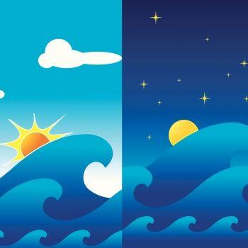 Las mareas. Cuento infantil para explicar el movimiento de las mareas