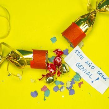 Cómo hacer un cracker sorpresa para fin de año con los niños