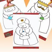 Cómo dibujar fácil a los 3 Reyes Magos. Vídeos para niños