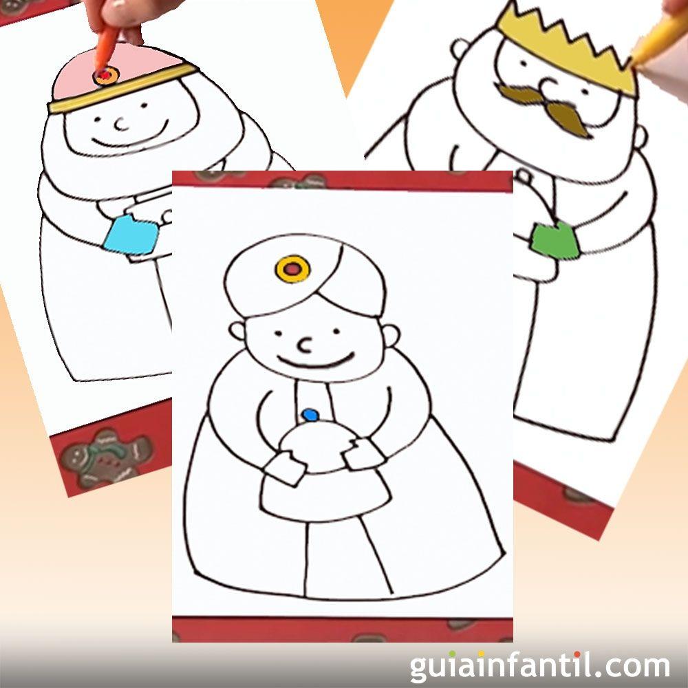 Como Dibujar Facil A Los 3 Reyes Magos Videos Para Ninos