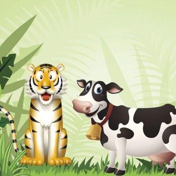 El tigre y la vaca. Cuento sobre la honestidad
