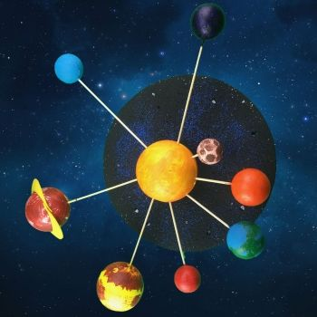 Cómo hacer el Sistema Solar con bolas de porexpán. Manualidades para niños
