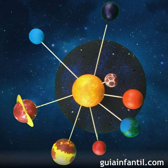 Como Hacer El Sistema Solar Con Bolas De Porexpan Manualidades Para