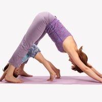 Ejercicio de yoga del Perro boca abajo. Asanas de yoga para niños