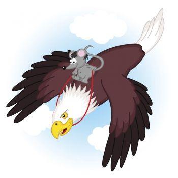 El ratón listo y el águila avariciosa